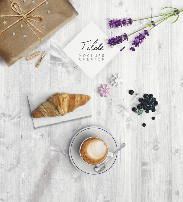 Mockup cappuccino edit free text - top view - Instagram post