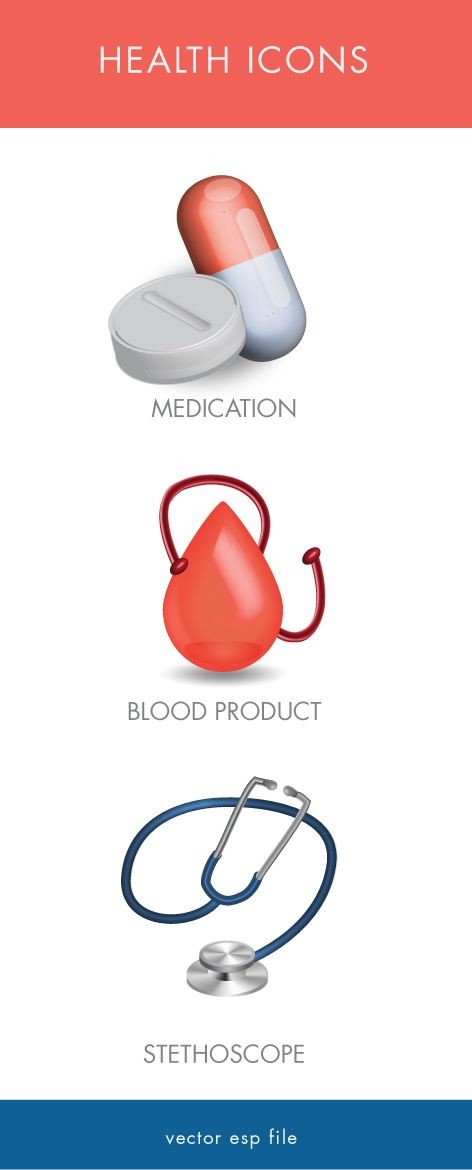 Medication icons - health 3d
