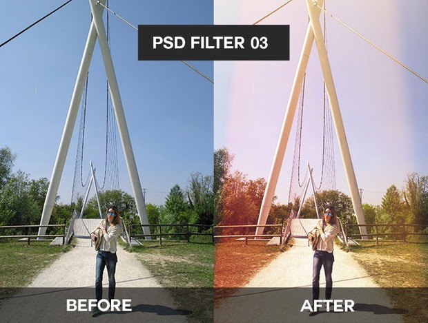 Landscape Filters PSD Coloring Sunlight