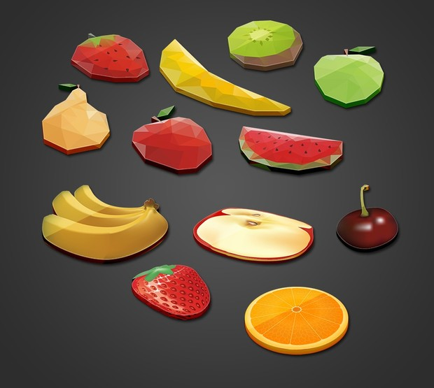 Free fruit Icons 3d