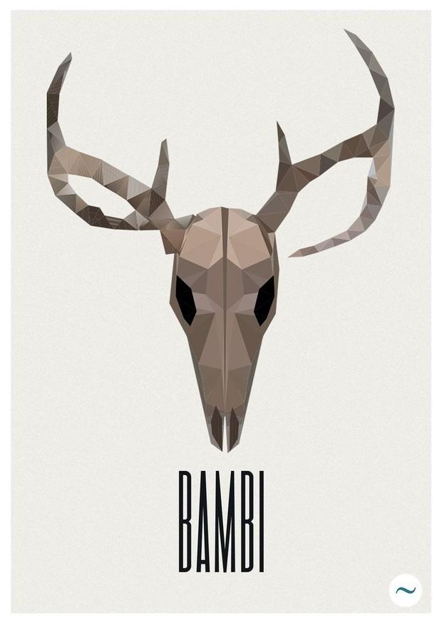 BAMBI deer skull