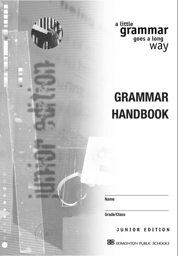 A Little Grammar Goes a Long Way Junior High