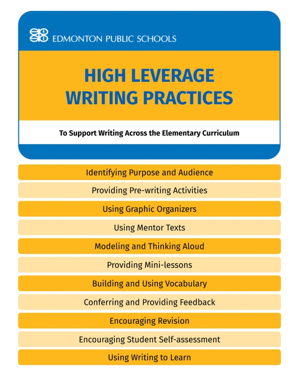 High Leverage Writing Practices Guide Book