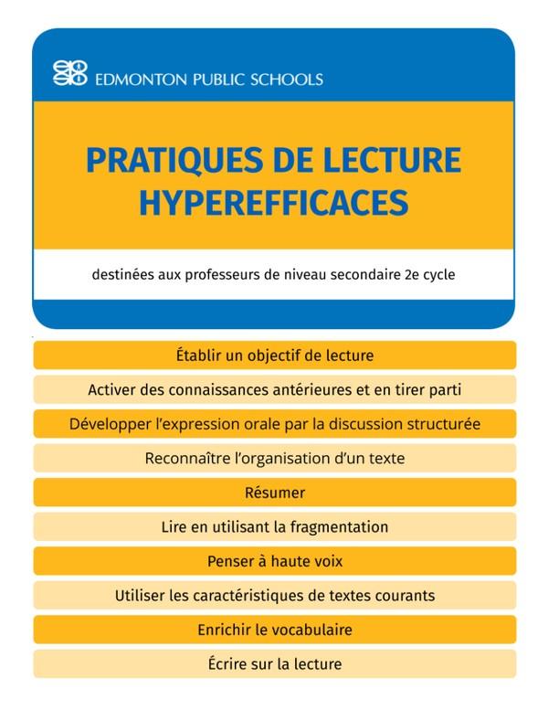 Secondaire 2e cycle - Pratiques de lecture hyperefficaces - Guide