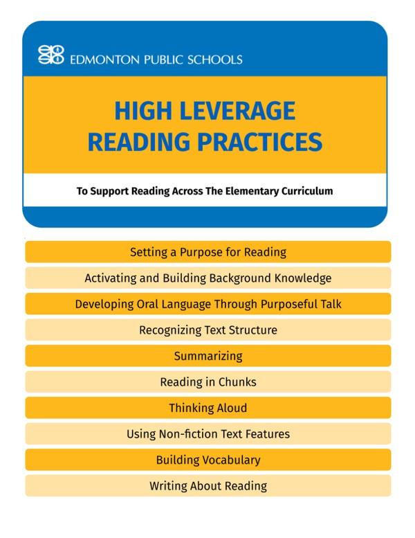 Elementary - High Leverage Reading Practices Flipbook