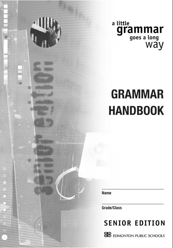 A Little Grammar Goes a Long Way  - High School