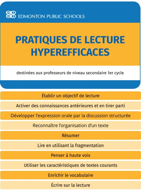 Secondaire 1er cycle - Pratiques de lecture hyperefficaces - Guide Book