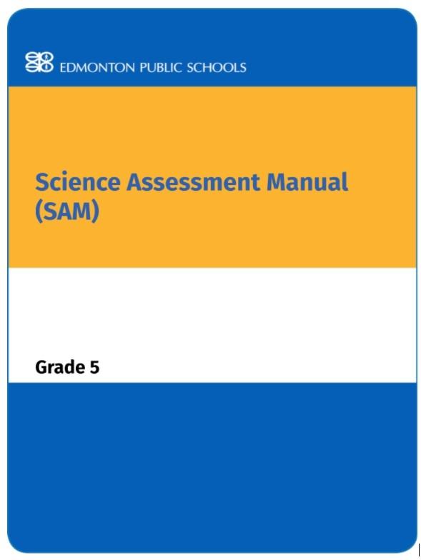 Grade 5 Science Assessment Manual - SAM