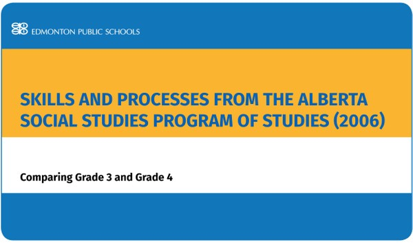 Skills and Processes from the Alberta Social Studies Program of Studies (2006):  Comparing Gr 3/4