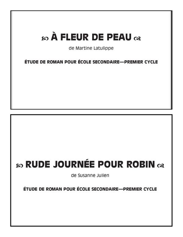 French Novel Studies - Junior High