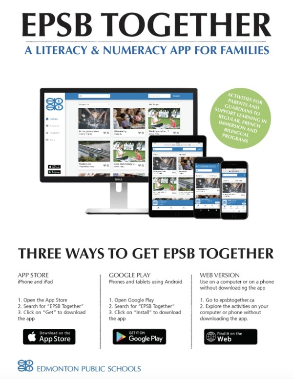 EPSB Together Literacy & Numeracy App