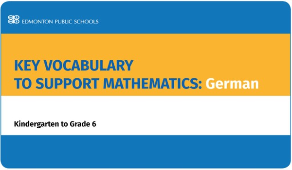Key Vocabulary to Support Mathematics K-6: German