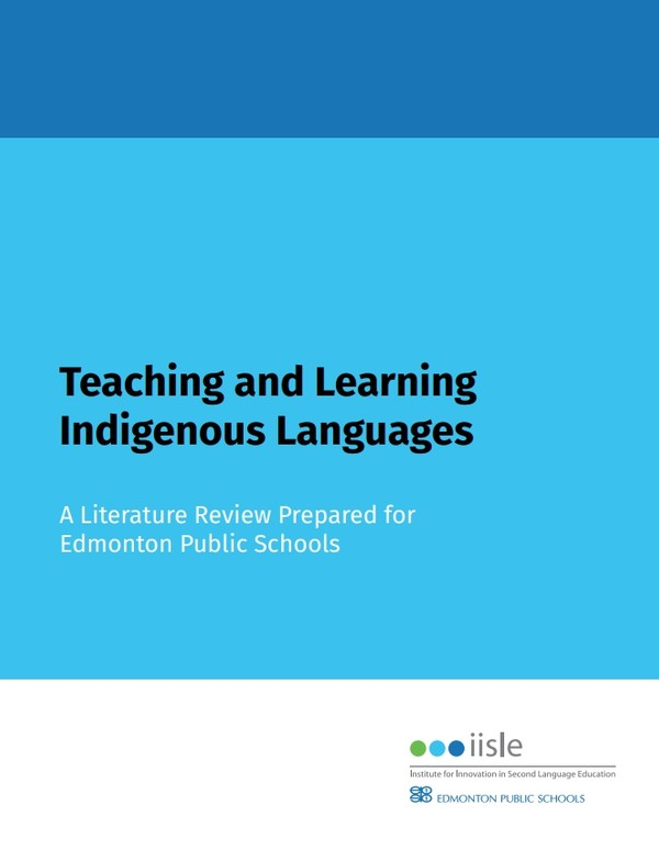Literature Review - Teaching and Learning Indigenous Languages