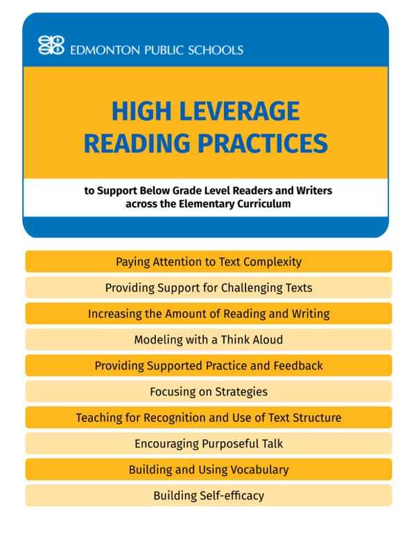 High Leverage Reading Practices to Support Below-Grade-Level Flipbook