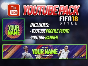 YOUTUBE PACK BANNER & LOGO by BeduFIFA