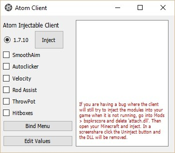 Atom Injection Client - Self Destruct & Prefetch Deleter
