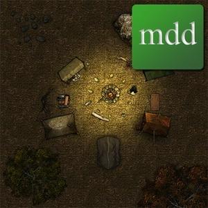 Campsite Map, Night