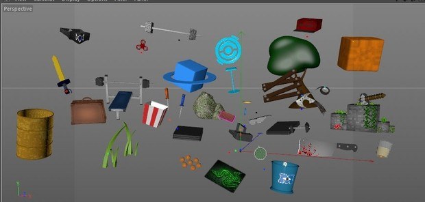 Models Pack C4D, Minecraft