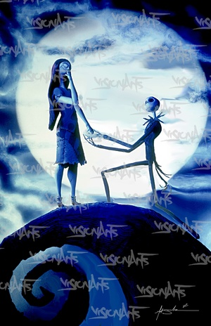 Jack and Sally Art Poster