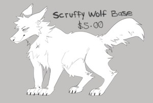 Scruffy Wolf Base (PSD)