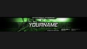 Premade Call of Duty Youtube Channel Art