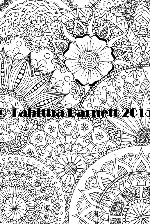 All about Mandalas Coloring Page
