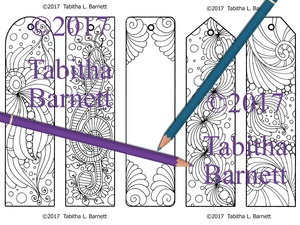 Tangled Coloring Bookmarks