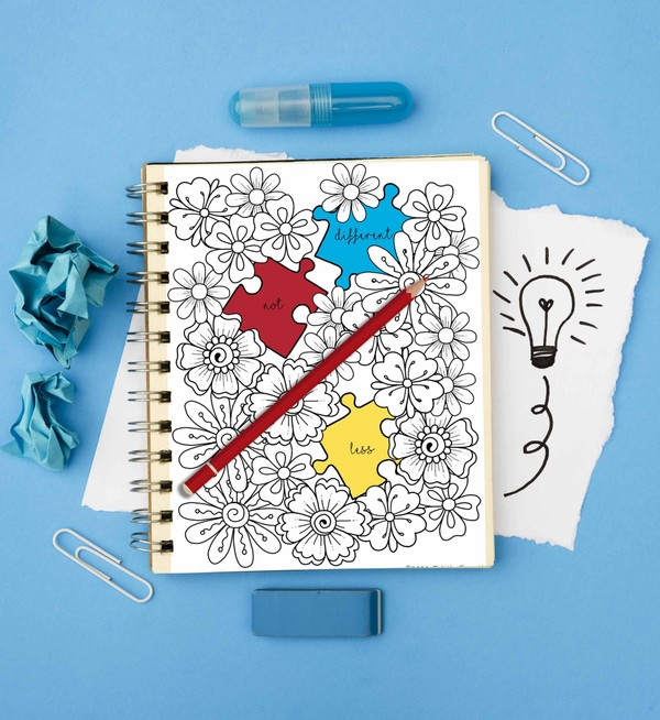 Autism Awareness Coloring Pack 1 (4 page PDF)