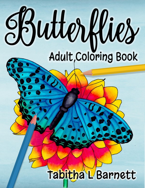 Butterflies Adult Coloring Book PDF