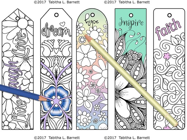 Inspirational Coloring Bookmarks JPG