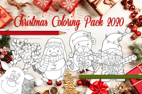 Christmas 2020 Cute Coloring Pages
