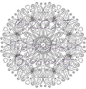 Butterflies and Flowers Mandala Coloring Pack (7 pg PDF)