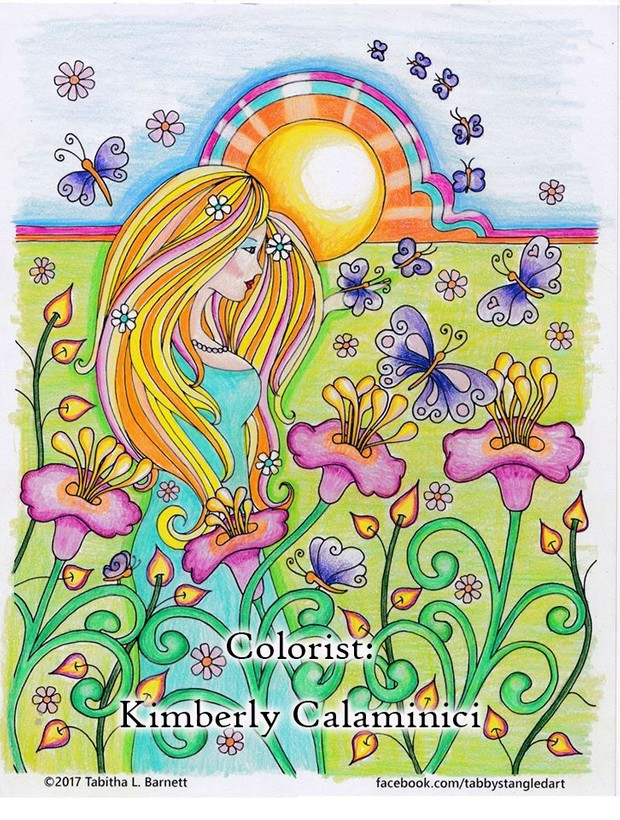 Garden Hippie Adult Coloring Page Jpg