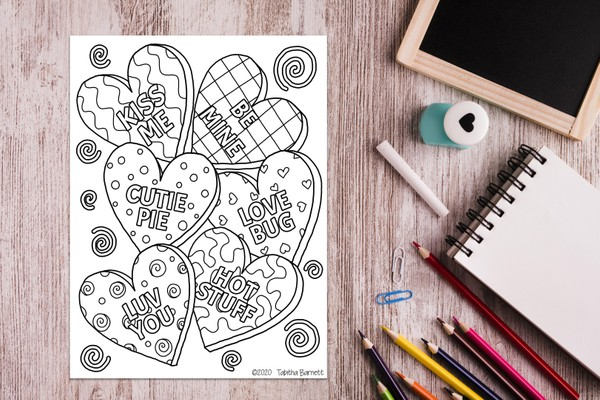 Valentine's Day Sweets Coloring Pack (3pg PDF)