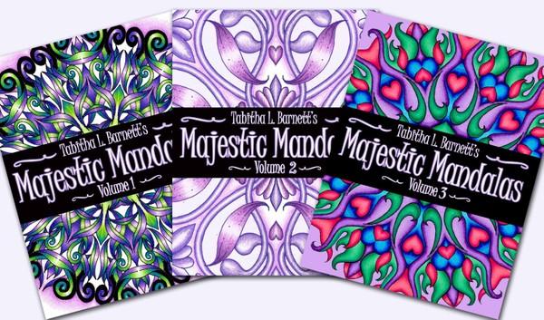 Majestic Mandalas SERIES (4 full PDF books)