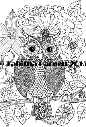 Who gives a Hoot Adult Coloring Page