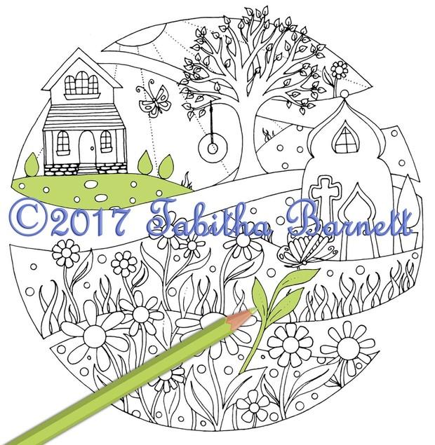 Broken Circles Coloring Pack #2 (3 pg PDF)