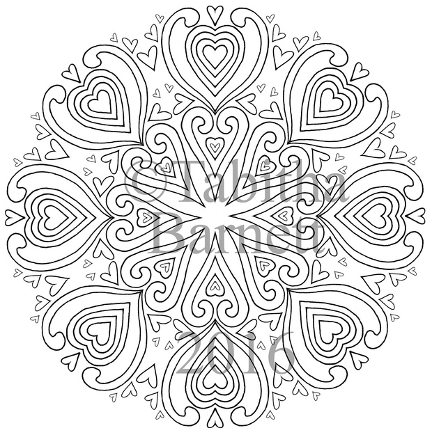 Tangled Mandalas Adult Coloring Pack #2  (8 designs to color)