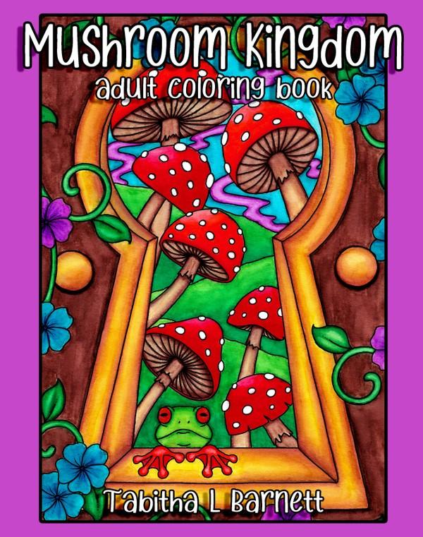 Mushroom Kingdom Adult Coloring PDF Book