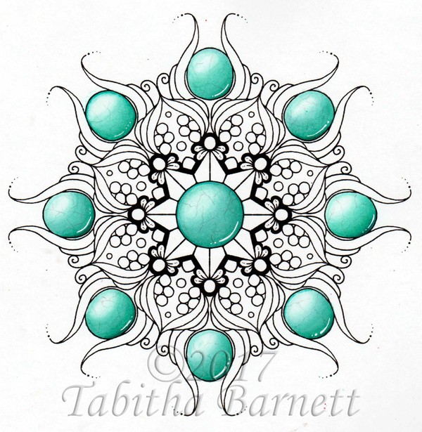 Gemdalas (Gemstone Mandalas) Coloring Pack #1