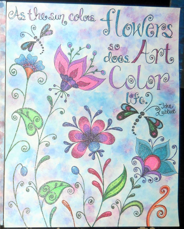 Color My Art Journal Pages 1 - 2