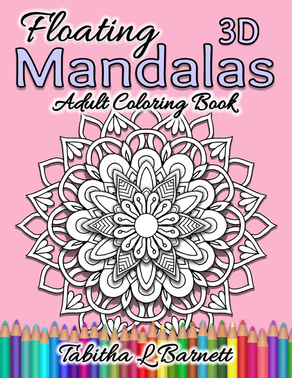 Floating 3D Mandalas Adult Coloring Book PDF
