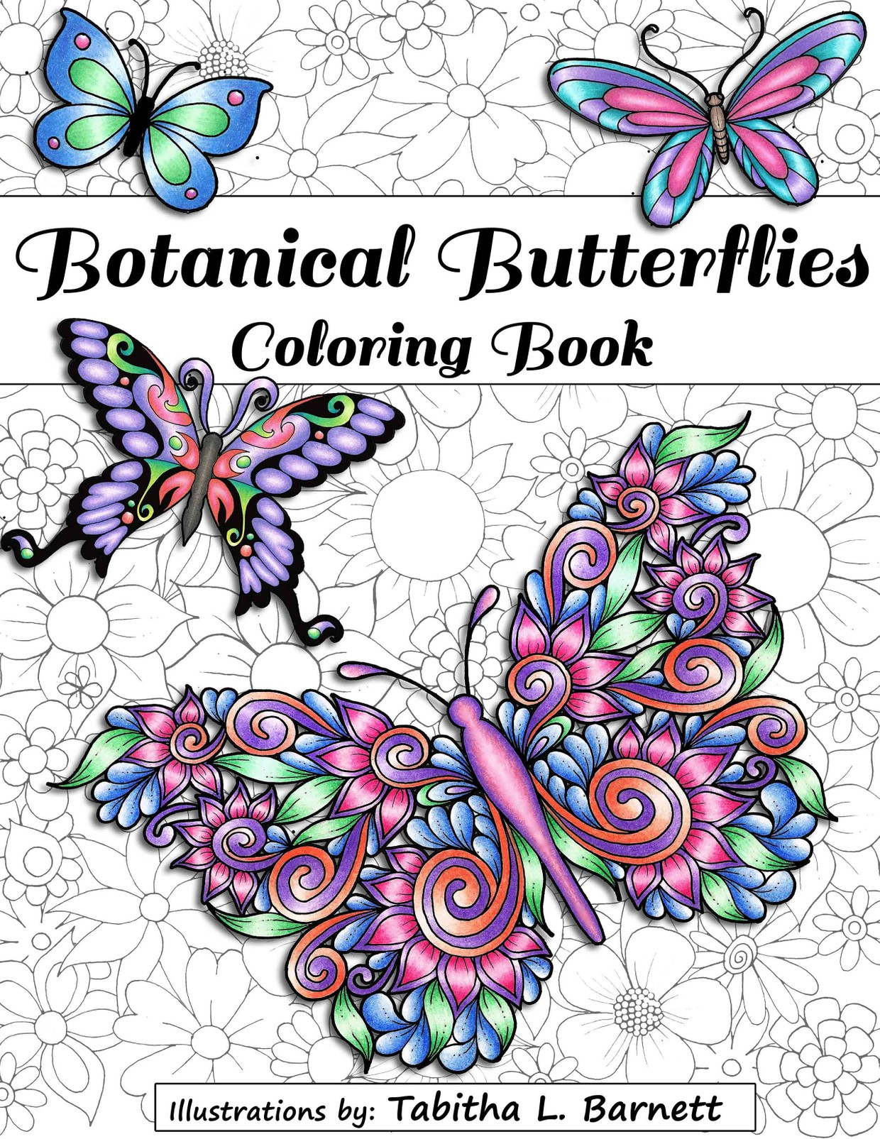 Botanical Butterflies Coloring Book PDF (58 pages to p ...