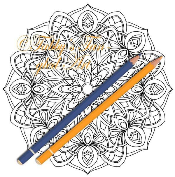 Intricate Mandalas Coloring Pack (5 NEW mandalas) PDF