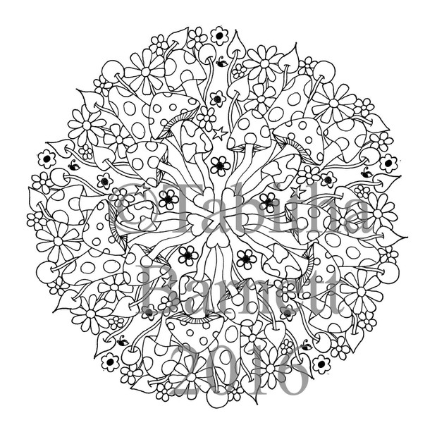 Tangled Mandalas Adult Coloring Pack (7 designs to color)