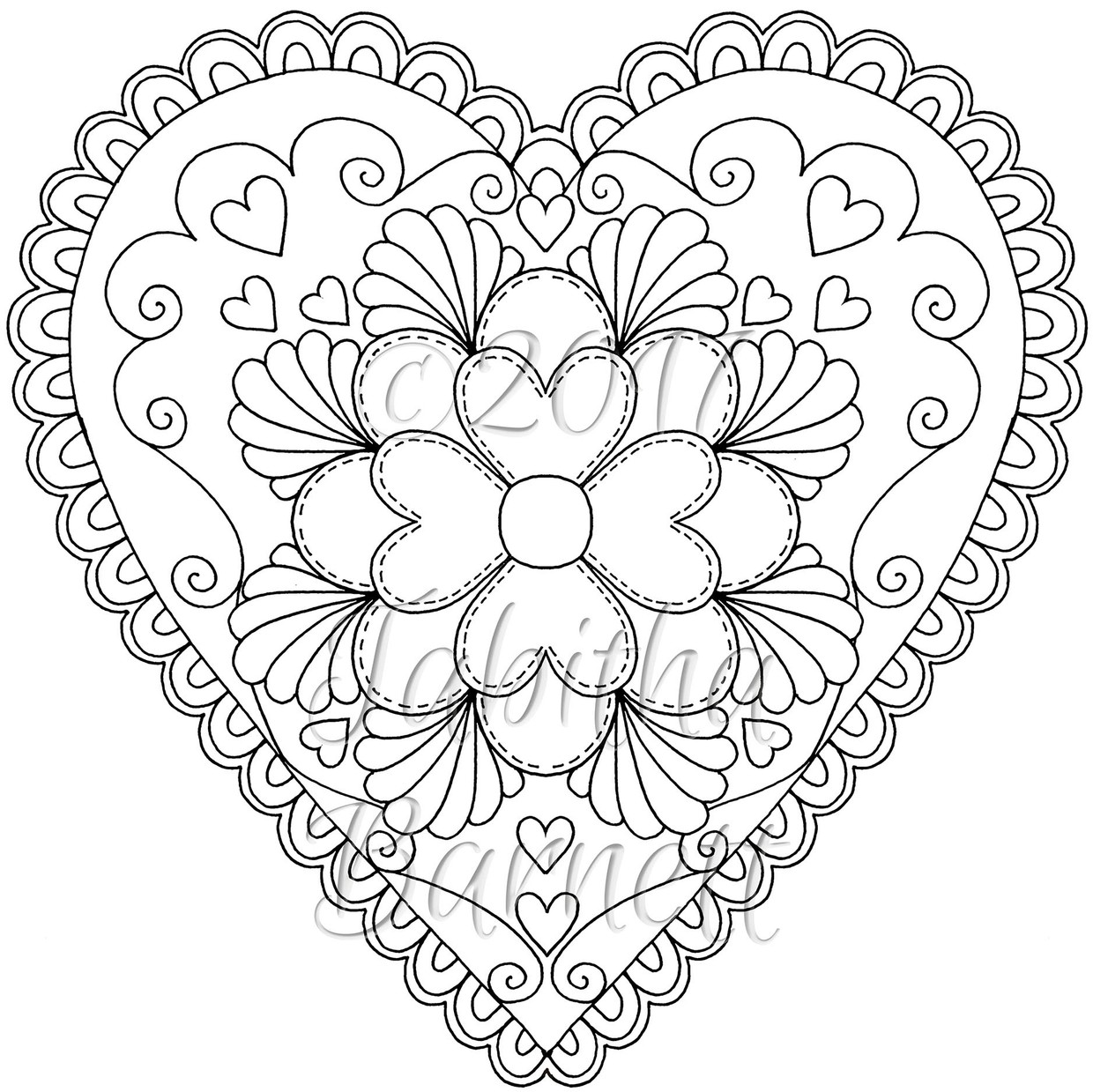 Tangled Hearts Adult Coloring Book PDF