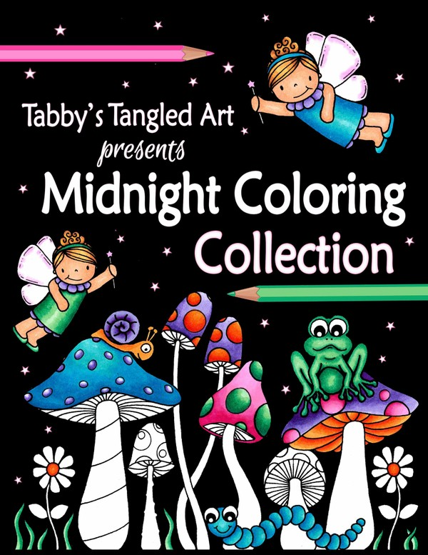 Tabby's Tangled Art MIDNIGHT Colloring Collection