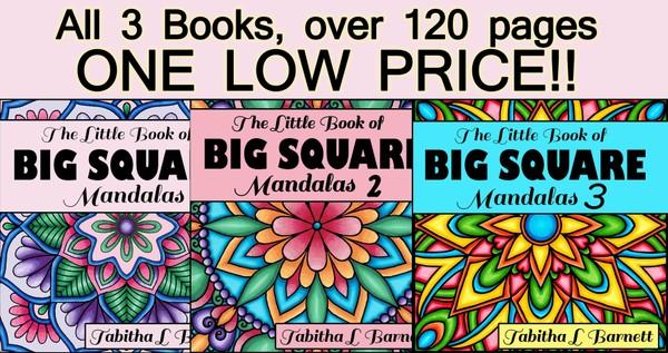 The little book of BIG SQUARE Mandalas PDF BUNDLE