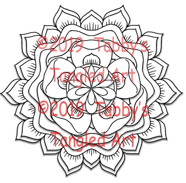 Floating Mandalas PDF Coloring Pack (5 pages)