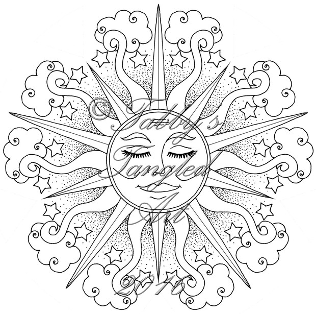 Tangled Mandals Adult Coloring Pages (Pack #3: 9 mandalas to print and color)
